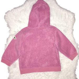 GAP Shirts & Tops - Pink Baby Gap Fleece Hoodie Sweater 18-24 Months